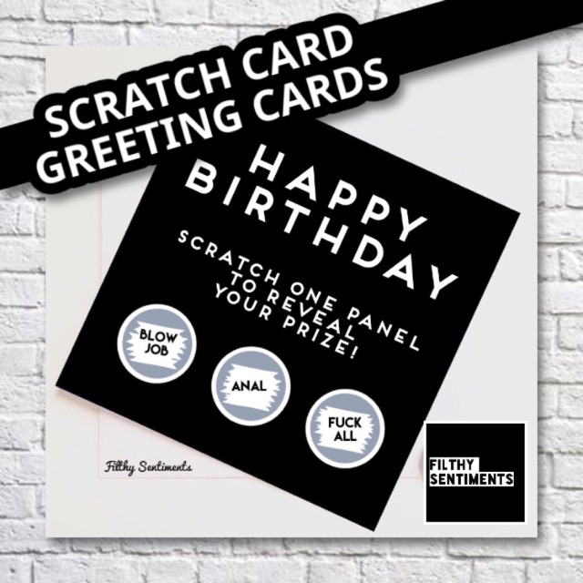 Scratch Card Greeting Cards Filthy Sentiments Birthday Funny Rude Cards