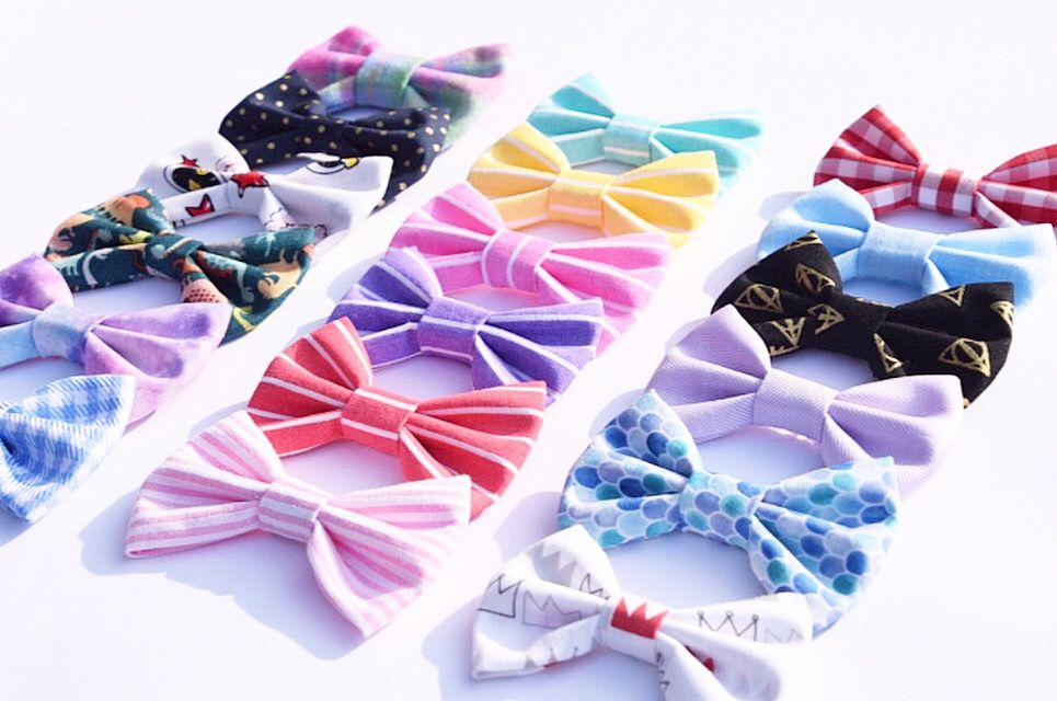 Colourful dog bows and cat bows