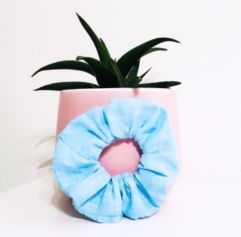 Azure Scrunchie