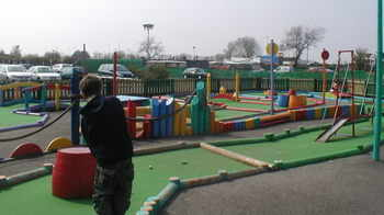 crazy golf at Butlins Skegness