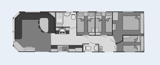 Butlins 10 Berth Caravan 4 Bedroom Caravan On Dunes
