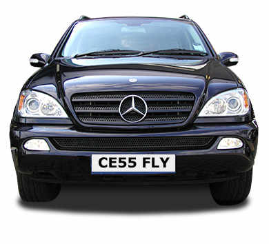 Car Number Plate CE55 FLY
