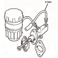 577664 - Brake Pipe, Fluid Reservoir to Master Cylinder, 88