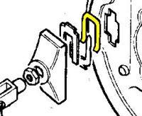 515468 - Spring Plate, Hand Brake Expander Unit