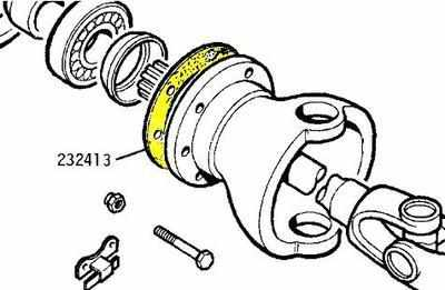 232413 - Gasket, Swivel Pin Bearing Housing to Axle Casing