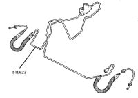 510823 - Brake Pipe, 3-way connector to Front RH Flexible Hose, 109