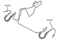577679 - Brake Pipe, Front Flexible Hose to Wheel Cylinder