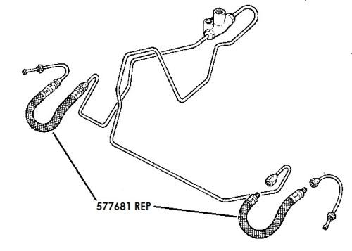 577681 REP - Brake Hose, Front, 109