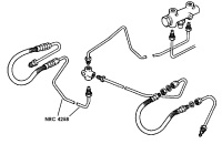 NRC 4258 - Brake Pipe, Front Connector to RH Flexible Hose