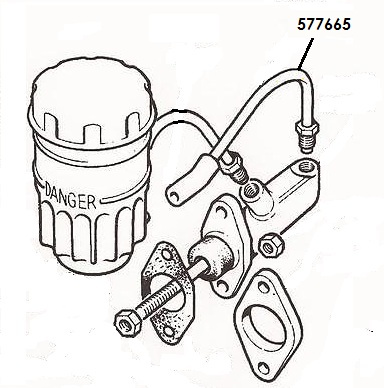 577665- Brake Pipe, Fluid Reservoir to Master Cylinder
