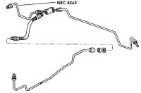 NRC 4263 - Brake Pipe, Rear Connector to RH Wheel Cylinder, 88""