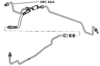 NRC 4263 - Brake Pipe, Rear Connector to RH Wheel Cylinder, 88