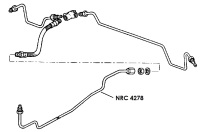 NRC 4278 - Brake Pipe, Middle Connector to Rear Flexible Hose, 109