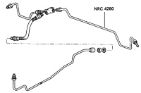 NRC 4280 - Brake Pipe, Rear Connector to LH Wheel Cylinder, 109