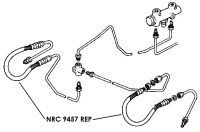 NRC 9457  - Flexible Hose, Front, July 1980 onwards