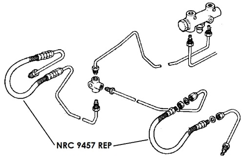 NRC 9457 REP - Flexible Hose, Front, July 1980 onwards, Replacement specification