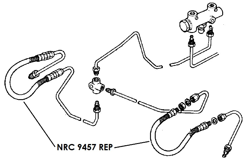 NRC 9457 REP - Flexible Hose, Front, July 1980 onwards