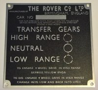 PLATE 006 - Chassis Number Plate, 86