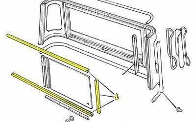 PSK 1152 - Window Channel Kit, Truck Cab