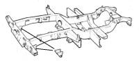 PSK 3640 - Rear Spring Hanger, SWB, 1954 to 1984