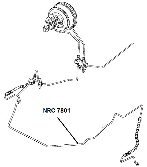 NRC 7801 - Brake Pipe, 3-way Connector to Front LH Hose