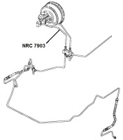 NRC 7903 - Brake Pipe, Master Cylinder Front Port to PDWA Valve, RHD