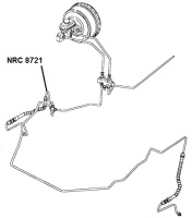 NRC 8721 - Brake Pipe, 3-way Connector to Front RH Hose