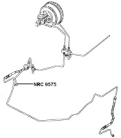 NRC 9575 - Brake Pipe, Hose to RH Caliper, up to VIN LA939975