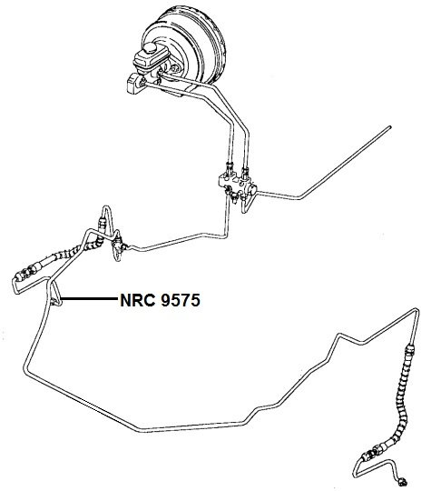 NRC 9575 - Brake Pipe, Hose to RH Caliper, up to VIN LA939975 (SIS)