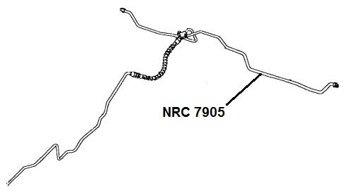 NRC 7905 - Brake Pipe, Connector to Rear LH Wheel Cylinder
