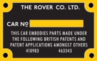 """PLATE 001 - Chassis Number Plate, 80"""" up to 06103884?"""