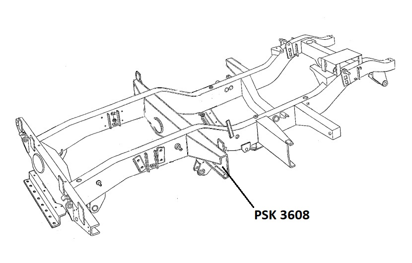 PSK 3608 - Chassis Outrigger, Front of Rear Body, RH Side, 80