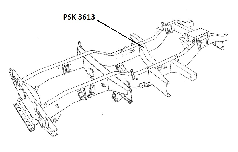 PSK 3613 (TYPE 1) - Chassis Crossmember, No. 3, Flywheel Housing, 80