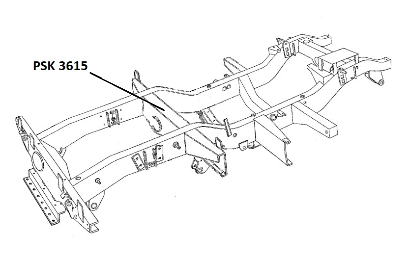 PSK 3615 - Chassis Crossmember, No. 5, Front of Rear Body, 80