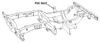 PSK 3622 - Chassis Outrigger, Bulkhead Mounting, LH Side, RHD models, 1954 to 1958