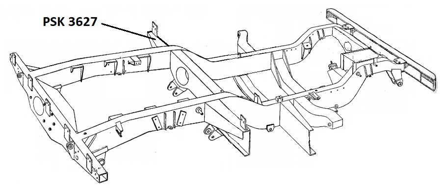PSK 3627 - Chassis Outrigger, Front of Body, LH Side, 86