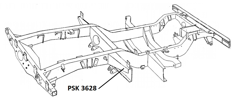 PSK 3628 - Chassis Outrigger, Front of Body, RH Side, 86