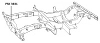 PSK 3631 - Rear Crossmember, 1954 to 1958