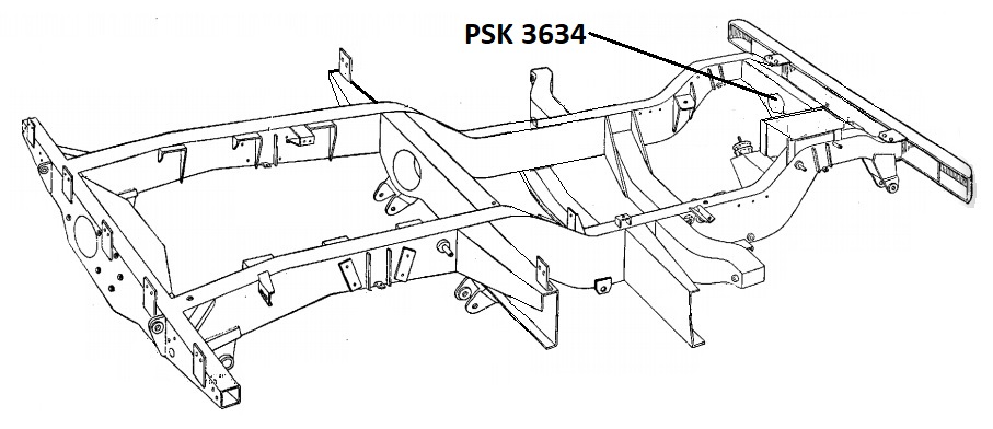 PSK 3634 LHD- Chassis Crossmember, No. 2, Relay and Front Panel, With Winch
