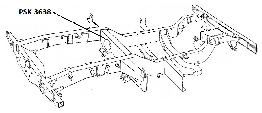 PSK 3638 - Chassis Crossmember, No. 5, Front of Rear Body, 1954 to 1958