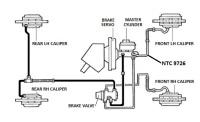 NTC 9726 - Brake Pipe, Master Cylinder to Front LH Hose, RHD