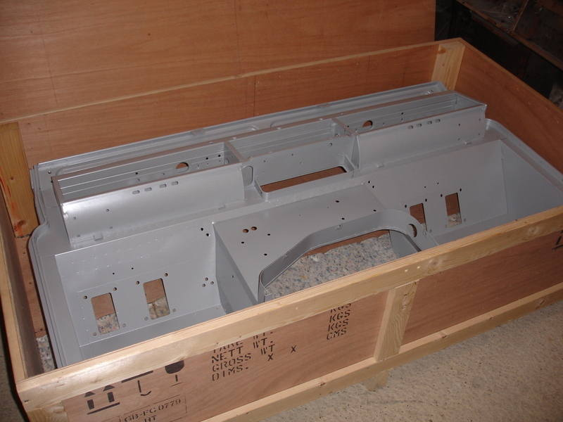 CRATE 1954 - Packing crate for bulkheads, 1954 onwards
