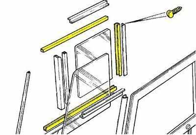 PSK 1144 - Window Channel Kit, Front Door Top, 1958 to 1971