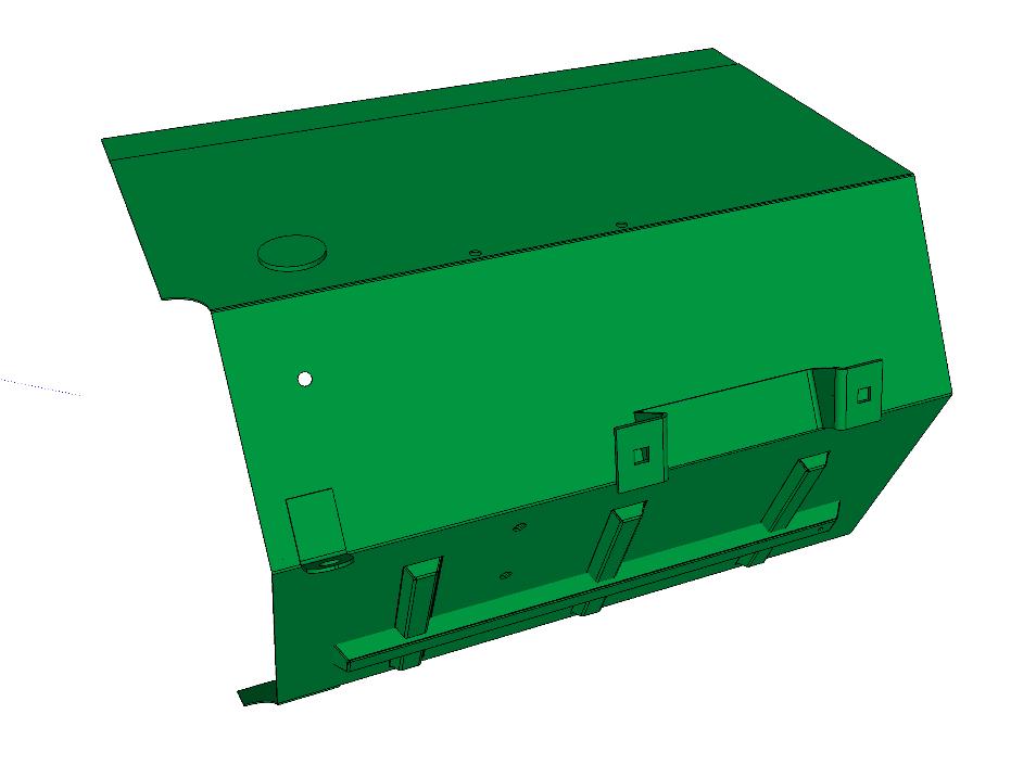 BSA 83-FW-RHD-LH - Footwell Sub-assembly, RHD model, Left Hand Side