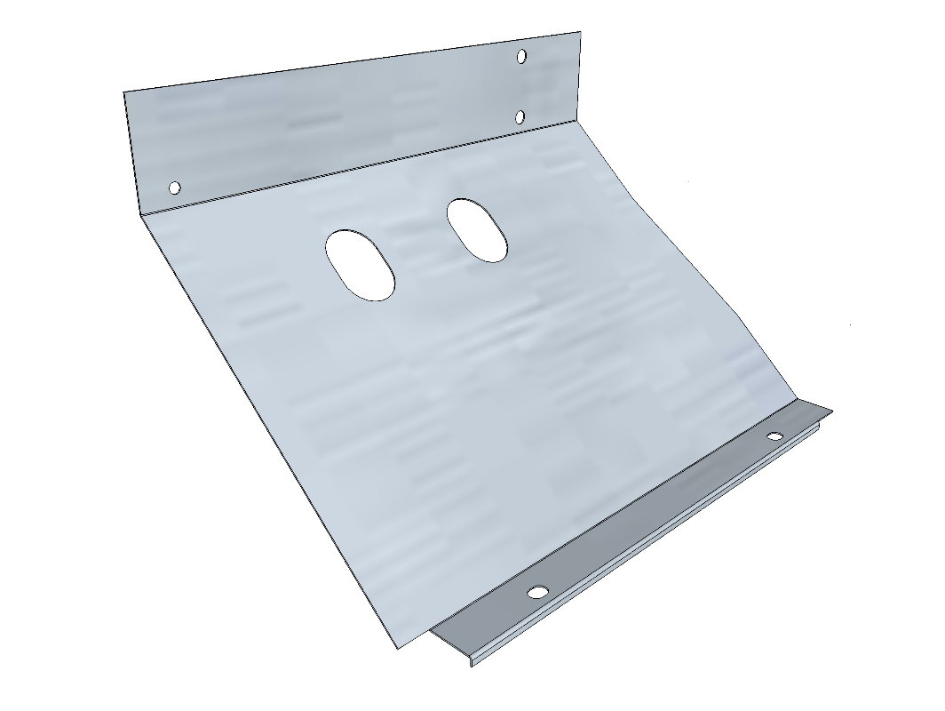 PSK 3503 - Footwell Bottom Section, LH Side, 1954 to 1955