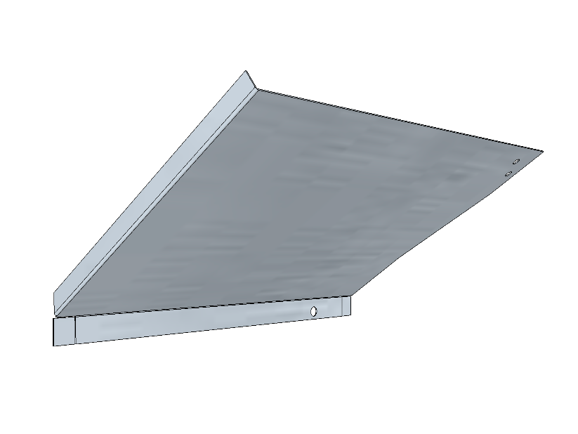 PSK 3504 - Footwell Top Section, LH Side