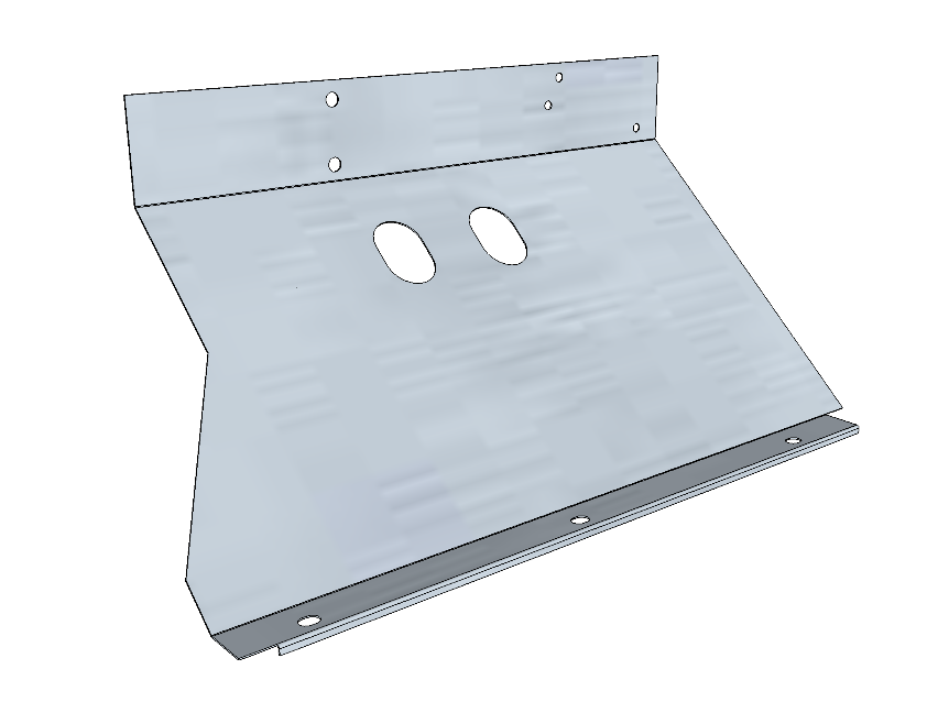 PSK 3505 - Footwell Bottom Section, RH Side, 1954 to 1955