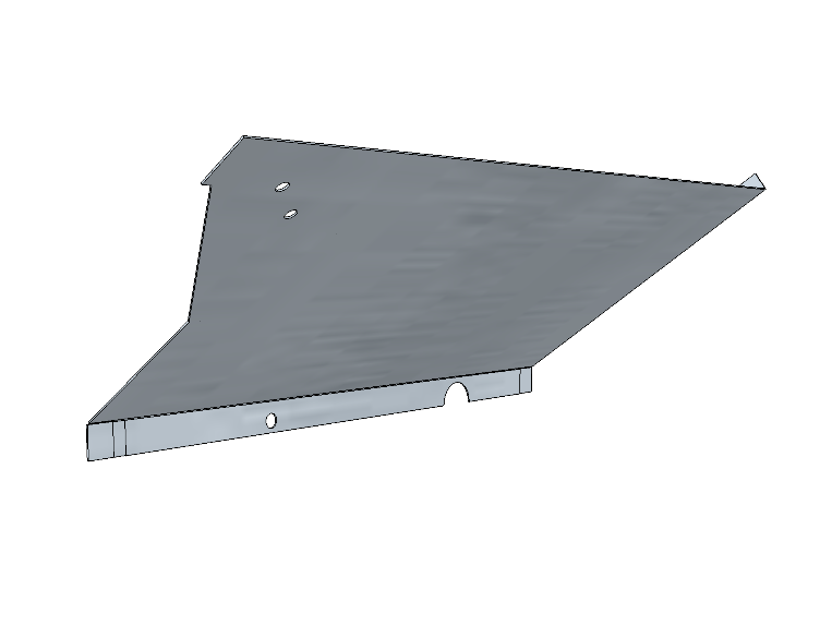 PSK 3506 - Footwell Top Section, RH Side