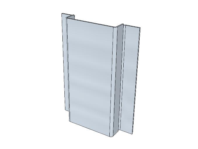 PSK 3515- Ventilator Centre Upright, Outer Panel