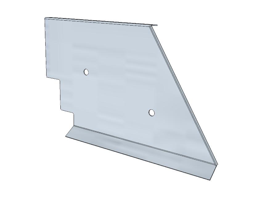 PSK 3518 - Panel, Ventilator to RH Footwell